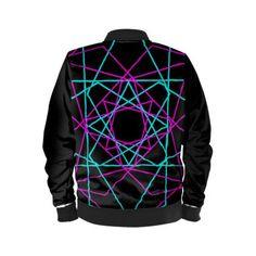 80's style Geometric design Bomber Jacket for Men.  #bomberjacket #jacket #80s #retro #style #fashion #colorful #family #mensfashion #onlineshopping #shopping #kids #men #style #online #teen  #geometric  #art #design #modern #deals #xmas #christmas #newyear #scardesign #bagsoflove #scifi #gifts #giftsforhim #giftsforher #39;s