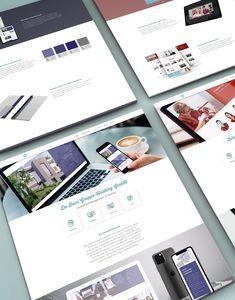 Web Design reference section, inspiration for website with mockups - display website
