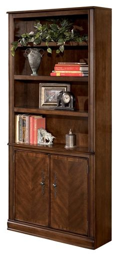 Ashley Furniture Signature Design - Hamlyn Bookcase - Rustic - Medium Brown