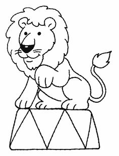 Coloriage Le cirque ! Circus Animal Crafts, Clown Crafts, Circus Crafts, Circus Art, Preschool Circus, Circus Activities, Lion Coloring Pages, Preschool Coloring Pages, Animal Line Drawings