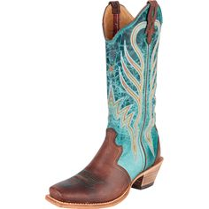 Shop Women's Twisted X Turquoise Steppin Out Saddle Cowgirl Boots *** I Bought these and though I do like them they're more green than teal.