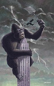 Digital Art - King Kong Plane Swatter by Martin Davey