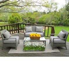 Lucia All-Weather Wicker Conversation Set - Seats Outdoor Furniture Sets, Seater Sofa, Furniture, Decor Design, Outdoor Furniture Accessories, Outdoor Furniture, Home Decor, Sofa Set, Creative Living