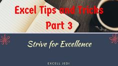 Excel Tips and Tricks Part 3 Name Ranges, Cell Custom Format, Dropdown L... https://youtu.be/bQ1S4LuHRC0