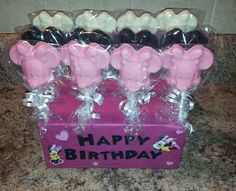 Minnie Mouse chocolate lollipops