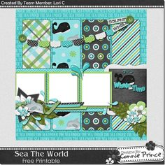 Scrapbooking TammyTags -- TT - Designer - Connie Prince, TT - Item - Quick Page, TT - Theme - Beach or Ocean