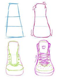 How to draw shoes - how to draw