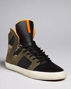 Supra Pilot Camo Detail High Top Sneakers - All Shoes - Shoes - Men's - Bloomingdale's