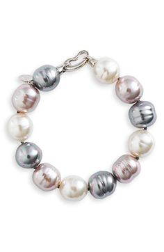 Majorica 14mm Baroque Pearl Single Row Bracelet available at #Nordstrom