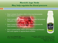 @allpurenatural Moreishi Jugo Verde may help regulate the blood pressure #JugoverdeJuice #JugoverdeCapsule #Amazingjuice #Healthiestjuice #Health #Allnatural #HerbsMedicine