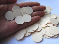 Cream Paper Circle Confetti, Ivory Wedding Confetti Bridal shower confetti Party Events Table Confetti