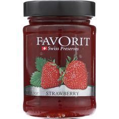 Favorit Preserves - Swiss - Strawberry - oz - case of 6 - Imported from Switzerland Fruit Creations, Raspberry, Strawberry, Fruit Preserves, Health Shop, Fruit Snacks, Delicious Fruit, Berries, Switzerland