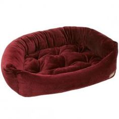 Jax And Bones Bordeaux Ripple Velour Napper Dog Bed - Large Product Image