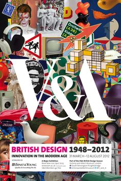 Our British Design poster featuring a collage of iconic objects from the exhibition. Book now: http://bit.ly/w475fM