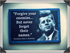 "Wood sign ""John F Kennedy"", hand-made wall decor. by ClownLaugh on Etsy"