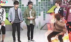 {gif} Leo won't stand for ANY nonsense ;) -VIXX Is Kyuhyun there? 0.o the evil maknae