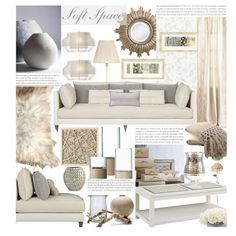 A home decor collage from November 2013 featuring crate and barrel furniture, armless couch and shabby chic lamp. Browse and shop related looks.