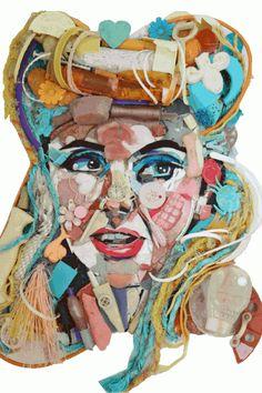 Beach Plastics Art Portraits, A window to the soul. Tess Felix