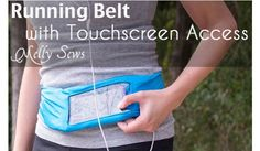 Melissa from Blank Slate Patterns and Melly Sews shows how you can make a running belt with a phone pocket.  The belt attaches easily with Velcro.  The clear vinyl window gives you touch screen acc…