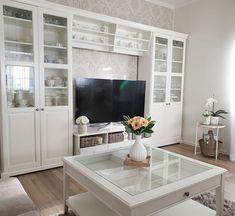 Living Room Bookcase, Ikea Living Room, Living Room Storage, Home Room Design, Home Design Decor, House Design, Interior Design, Ikea Liatorp, Ikea Home