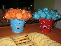 Monster party snack idea. Just change the color up to match the ones you chose for you party.