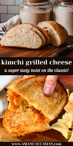 It may sound weird to put kimchi in a grilled cheese sandwich, but it tastes so, so good! The kimchi cuts through the richness of the cheese and adds tangy and spicy flavors to the sandwich. Kimchi is one of those super foods that's incredibly good for you! Consider this an elevated adult version of the classic. Perfect for lunch or a healthy dinner option. Ready in 20 minutes! #grilledcheeserecipe #kimchirecipe Making Grilled Cheese, Best Grilled Cheese, Grilled Cheese Recipes, Easy Summer Meals, Summer Recipes, Healthy Asian Recipes, Vegetarian Recipes, Healthy Dinner Options, Kimchi Recipe