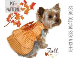 Halloween Dog Dress SEWING PATTERN 1603 Baby by SofiandFriends