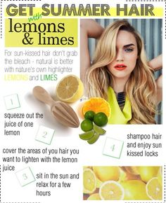 #Summer hair with limes & lemons. GONNA DO THIS!