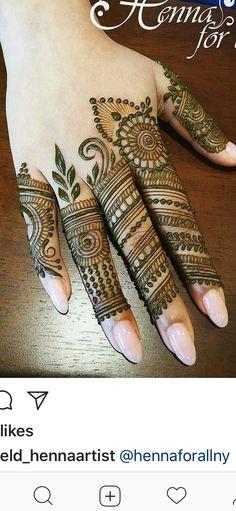 Latest Mehendi Designs for Hands & Legs - Happy Shappy Latest Mehndi Designs Hands, Basic Mehndi Designs, Rose Mehndi Designs, Finger Henna Designs, Henna Art Designs, Mehndi Designs For Girls, Mehndi Designs 2018, Mehndi Designs For Beginners, Dulhan Mehndi Designs