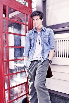 Shane Harper. and he's by a red phone box! how much better could it get! haha :p