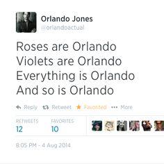 Orlando Jones #orlandopocalypse #GISHWHES Orlando Jones, Violets, Roses, Funny, Blue, Pink, Rose, Funny Parenting, Hilarious