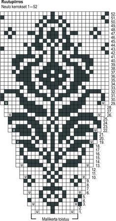 Tapestry Crochet Patterns, Fair Isle Knitting Patterns, Bead Loom Patterns, Knitting Charts, Sweater Knitting Patterns, Knit Patterns, Hand Knitting, Stitch Patterns, Crochet Pullover Pattern