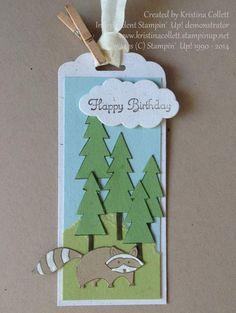 Stampin'  Up!, Life in the forest, birthday, tag