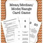 This card game is an excellent way to have kids practice their understanding of Mean, Median, Mode and Range.  Students can play this game independ...