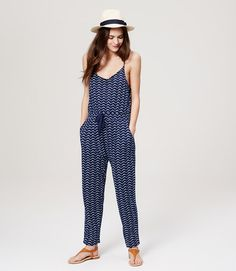 Primary Image of LOFT Beach Wave Slouchy Jumpsuit