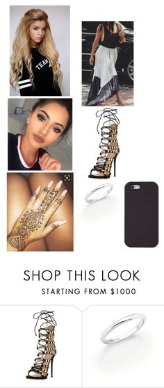 """""""I Can't Take My Eyes Of You"""" by paukar ❤ liked on Polyvore featuring Giuseppe Zanotti, De Beers and LuMee"""