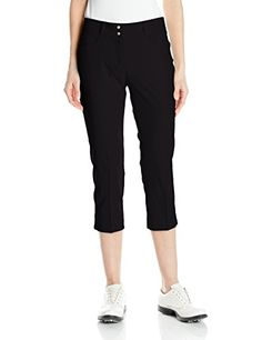 adidas Golf Women's Essentials Lightweight Capri, Dgh Solid Grey, Lightweight stretch woven fabric contoured waistband with constructed belt loops two front pockets and two back pockets adidas performance metal tab above back right pocket. Crazy Golf, Adidas Golf, Golf Accessories, Check Shirt, Adidas Women, Tees, Shirts, Capri Pants, Pajama Pants
