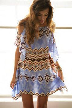 Pretty boho summer dress.