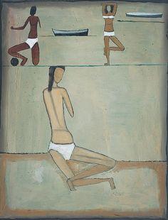 Jerzy Nowosielski <em>Plaża</em> | 1958, 65 × 50 cm, olej/płótno, Fundacja Nowosielskich