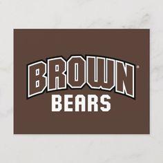 Shop Bear Logo Invitation Postcard created by brownuniversity. Hockey Baby, Hockey Goalie, Ice Hockey, Lacrosse Quotes, Hockey Memes, Bear Logo, Scandinavian Christmas, Postcard Size, Invitations