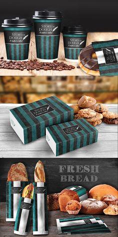 """Branding-Packaging Design """"Story of Dough"""" Brand Packaging, Packaging Design, Fresh Bread, Corporate Identity, Ale, Bakery, Behance, Branding, Logo"""