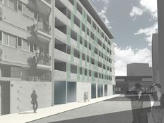 """New primary element"" Social Housing in Piazzale Accursio, Milan. NamJun Kim_Politecnico di Milano #architecture #render #3D"