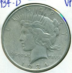 1934d Peace Dollar SemiKey Date VF by DrewsCollectibles on Etsy, $36.20