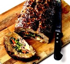 Sausage-spiked homestyle meatloaf