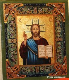 Reverse painting on glass- Orthodox icon Religious Icons, Orthodox Icons, Glass, Painting, Art, Art Background, Drinkware, Corning Glass, Painting Art