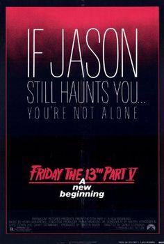 27 x 40 Friday the 13th Part 5 New Beginning Movie Poster @ niftywarehouse.com #NiftyWarehouse #Horror #Movies #FridayThe13th #Jason