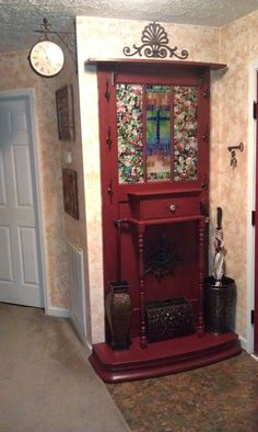 Awesome Hall Tree From Old Doors