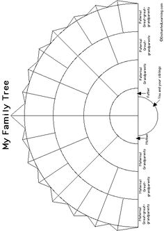 Semi-Circular Family Tree Craft Template - Enchanted Learning Software