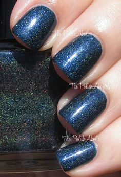 Lacquer Lust Holo Birthstone Collection Swatches - Sapphire