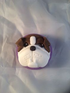 Dog cupcakes #2: Bulldog cupcake topper - by For the love of cake @ CakesDecor.com - cake decorating website